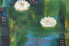 SOLD: Waterlilies 16x20 Acrylic on Canvas