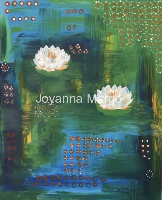 Waterlilies 16x20 Acrylic on Canvas