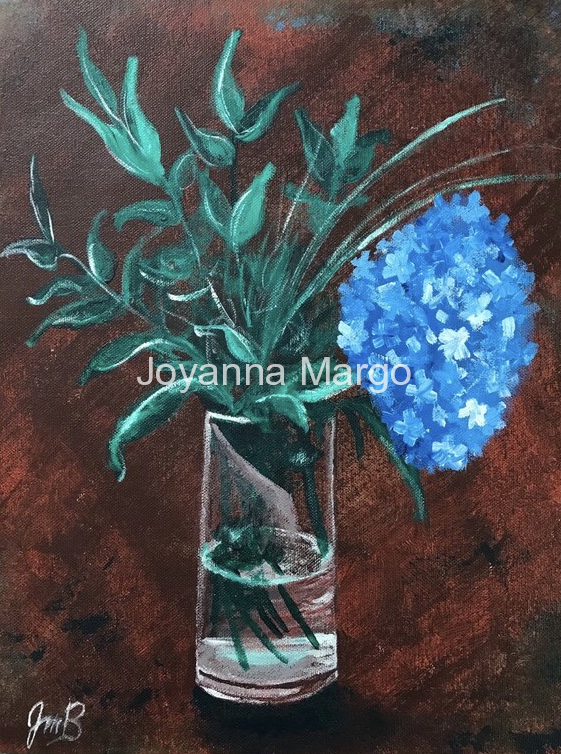 Hydrangea 12x16 Acrylic on Canvas